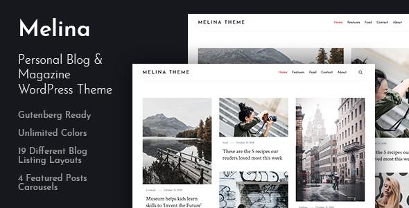 Melina - Personal Blog & Magazine WordPress Theme Free Download | Nulled