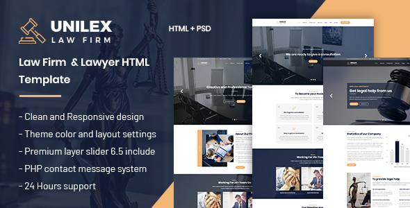 Unilex - Law Firm & Lawyer HTML Template - Business Corporate