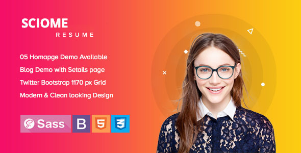 Sciome - Creative Resume HTML5 Template Free Download | Nulled