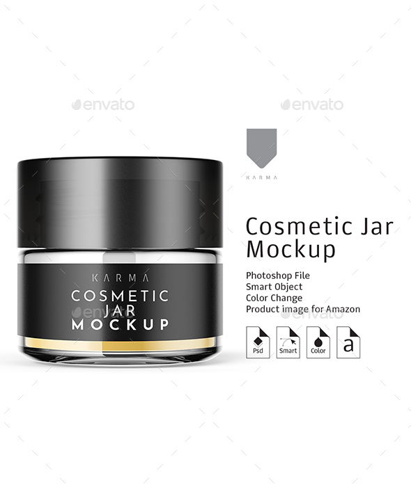 Cosmetic Glass Jar Mockup 1 - Miscellaneous Packaging