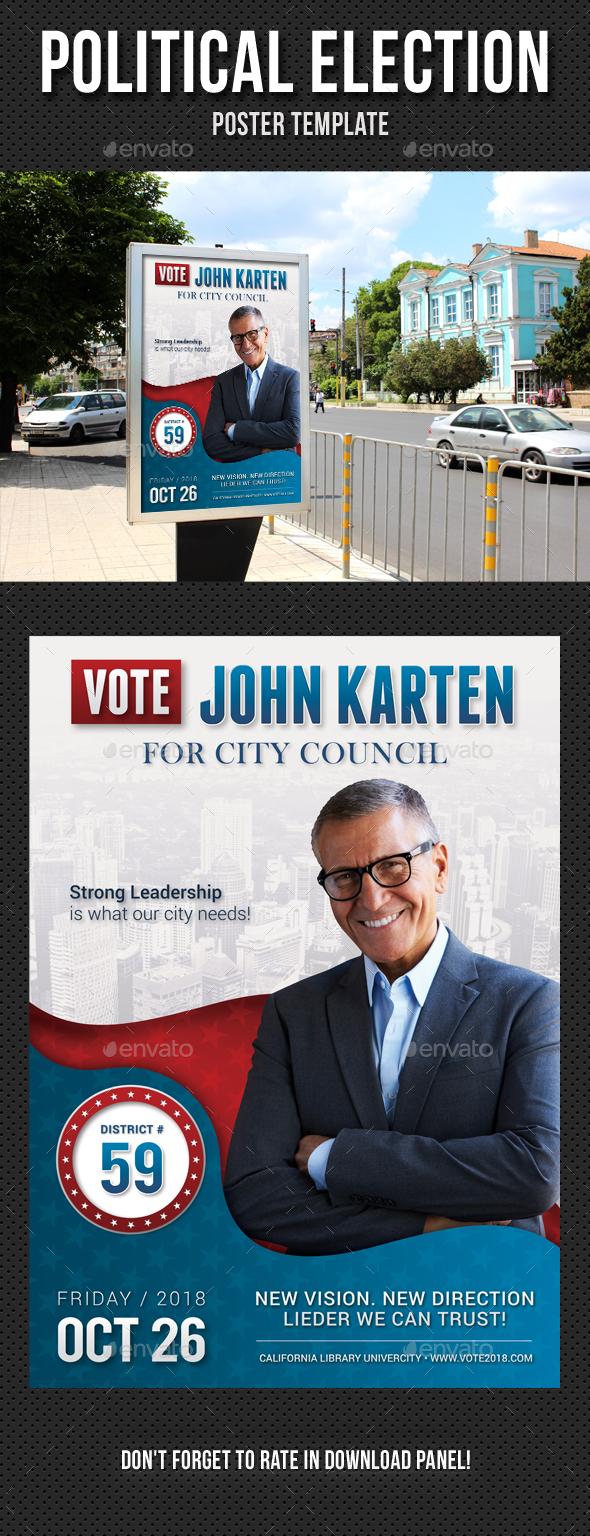 Political Election Poster v2 - Signage Print Templates