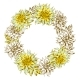 Decorative Wreath with Fluffy Yellow Dahlias - GraphicRiver Item for Sale
