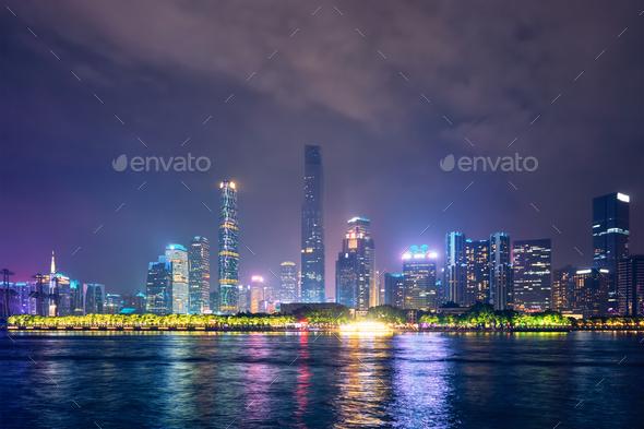 Guangzhou skyline. Guangzhou, China - Stock Photo - Images
