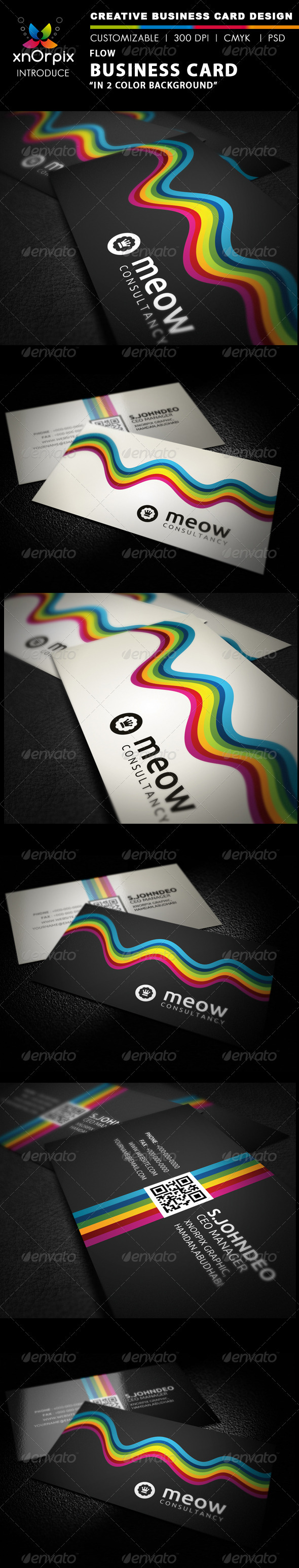 Flow Business Card - Business Cards Print Templates