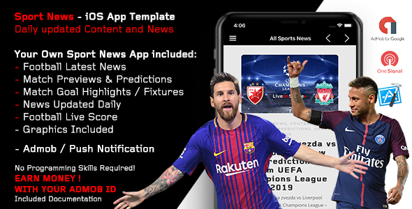 Sport News - Football iOS App Template (Admob/Push)            Nulled