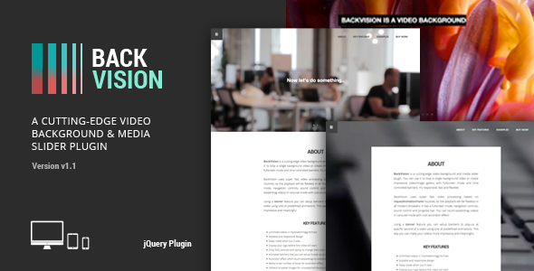 BackVision - jQuery Video Background & Slider Plugin            Nulled
