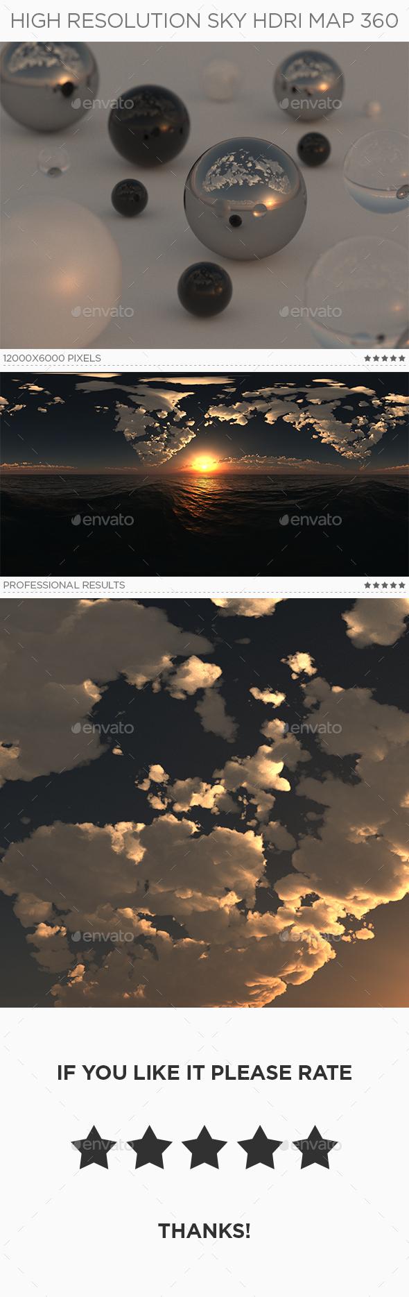 High Resolution Sky HDRi Map 360 - 3DOcean Item for Sale