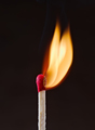 match flame the moment it is lit in front of dark background - PhotoDune Item for Sale
