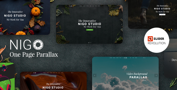 Nigo - Creative Parallax One Page HTML Template - Corporate Site Templates