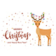 Deer and Lettering Merry Christmas - GraphicRiver Item for Sale