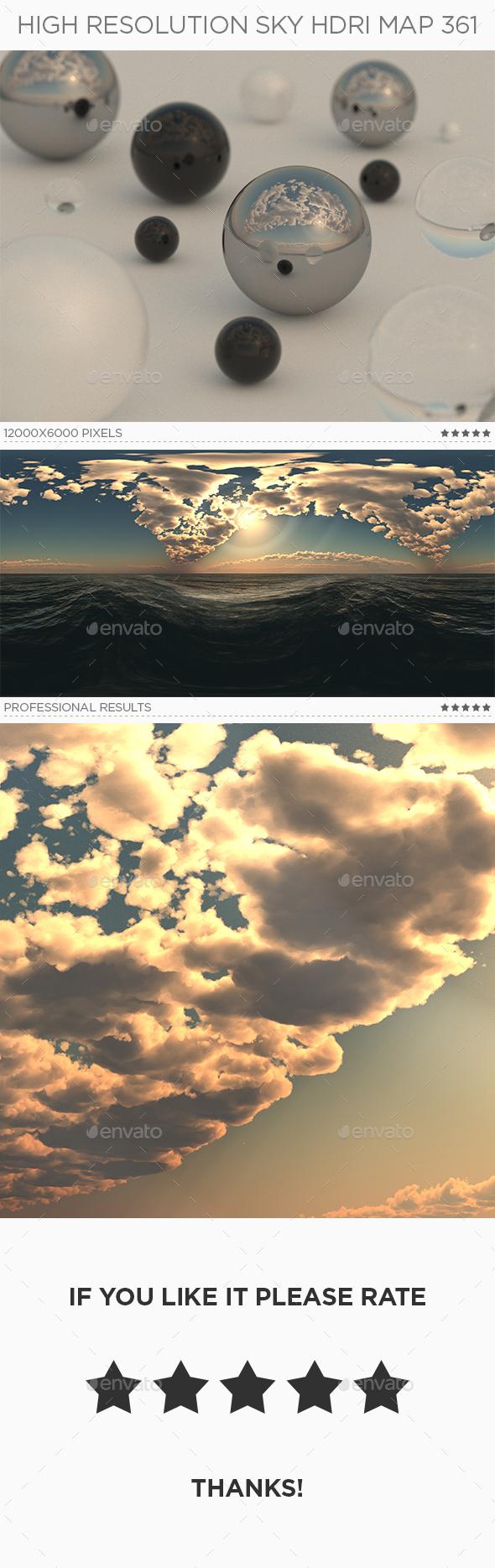 High Resolution Sky HDRi Map 361 - 3DOcean Item for Sale