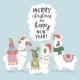 Christmas Card with Llamas - GraphicRiver Item for Sale
