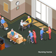 Nursing Home Isometric Poster - GraphicRiver Item for Sale