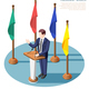 President Speech Isometric Composition - GraphicRiver Item for Sale