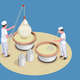 Cheese Making Isometric Poster - GraphicRiver Item for Sale