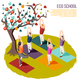 Alternative Learning Isometric Composition - GraphicRiver Item for Sale