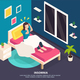 Sleeping Disorder Isometric Background - GraphicRiver Item for Sale