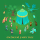 Medieval Fairy Tale Isometric Illustration - GraphicRiver Item for Sale