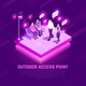 Internet Access Point Isometric Composition - GraphicRiver Item for Sale