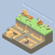 Archeology Isometric Compositon - GraphicRiver Item for Sale