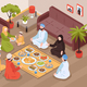 Arab Family Meal Illustration - GraphicRiver Item for Sale