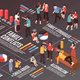 Family Conflicts Isometric Flowchart - GraphicRiver Item for Sale