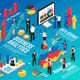 Business Analyst Isometric Flowchart - GraphicRiver Item for Sale