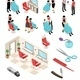 Isometric Barber Shop Set - GraphicRiver Item for Sale