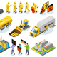 Toxic Waste Isometric Icons - GraphicRiver Item for Sale