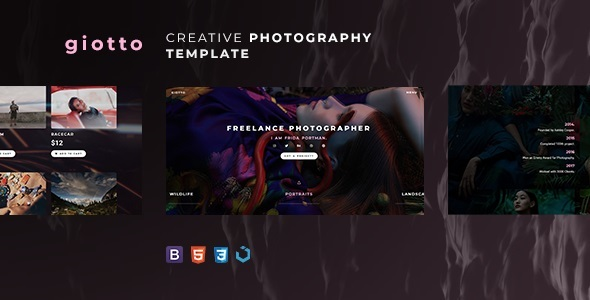 Giotto — Creative Photography Template Free Download   Nulled