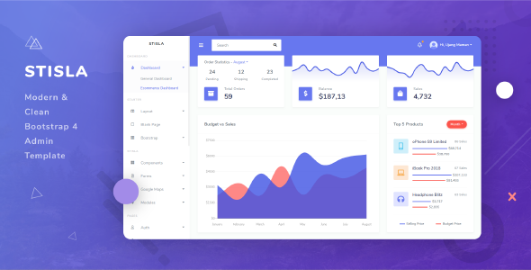 Stisla - Clean & Modern Bootstrap 4 Admin Template Free Download | Nulled