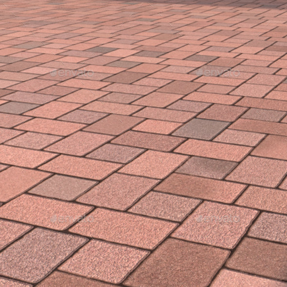 Muster K Pattern Patio Pavers - 3DOcean Item for Sale
