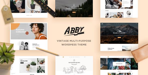 Abby – Vintage Multi-purpose WordPress Theme - Creative WordPress