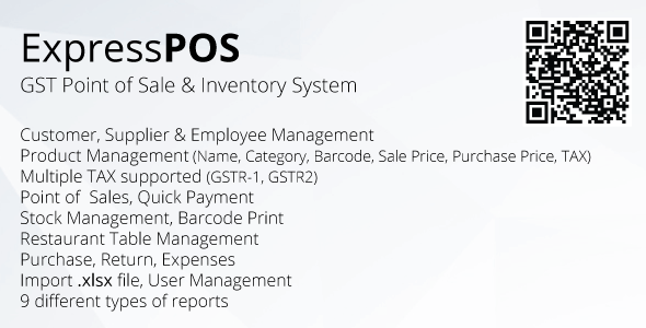 ExpressPOS - GST Point of sale & Inventory system - CodeCanyon Item for Sale