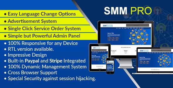 SMM Pro - Dynamic Social Media Marketing Services Script - CodeCanyon Item for Sale