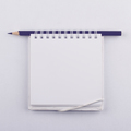 Empty paper notebook with spiral and a black pen - PhotoDune Item for Sale
