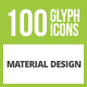 Free Download 100 Material Design Glyph Inverted Icons Nulled