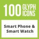 Free Download 100 Smartphone & Smartwatch Glyph Inverted Icons Nulled
