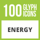 Free Download 100 Energy Glyph Inverted Icons Nulled