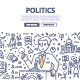 Politics Doodle Concept - GraphicRiver Item for Sale