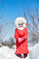 Cute little girl in winter, have fun and enjoy - PhotoDune Item for Sale