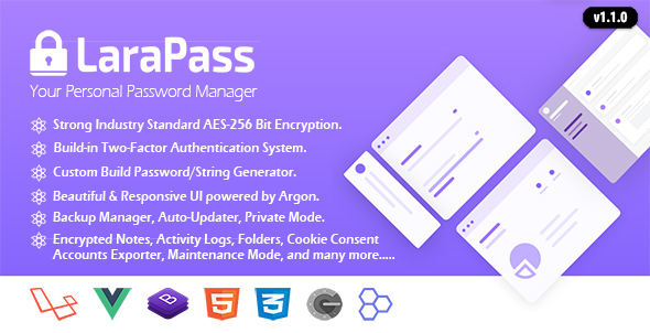 LaraPass - Your Personal Password Manager
