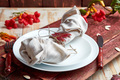 Fall table setting for Thanksgiving day celebration - PhotoDune Item for Sale