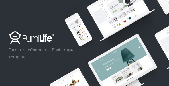 Furnilife - Furniture eCommerce Bootstrap 4 Template - Shopping Retail
