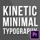 Kinetic Minimal Typography | Mogrt - VideoHive Item for Sale
