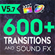 FCPX 600+ Transitions and Sound FX - VideoHive Item for Sale