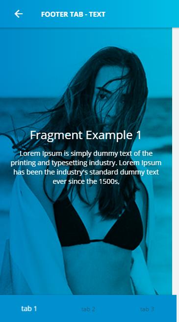 Ionic 3 UI Theme/Template App - Material Design - Blue Light