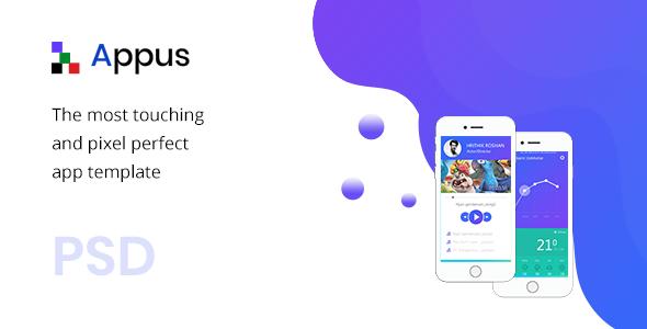 Appus - App Landing Page PSD Template - Business Corporate