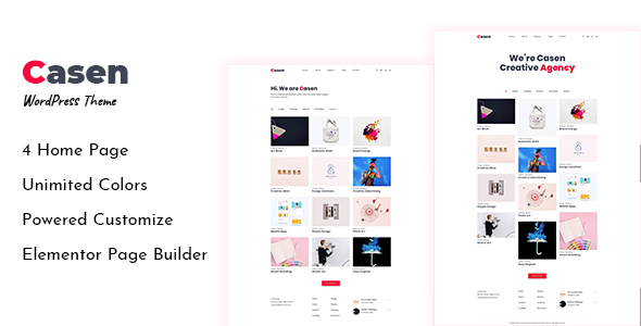 Casen – Minimal Portfolio WordPress Theme