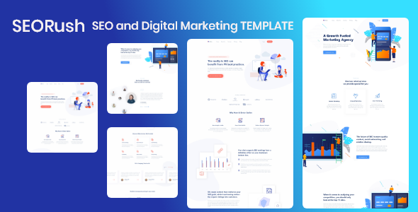 SEORush – SEO and Digital Marketing Template
